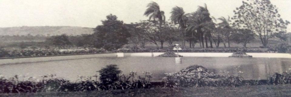 Lagoa em Frente ao Prédio Central, década de 60