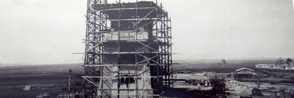 Construção da Caixa D'Água do Prédio Central, década de 40/50