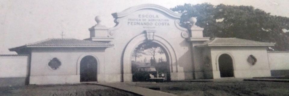 Entrada do Portão de Acesso da Escola Prática de Agricultura